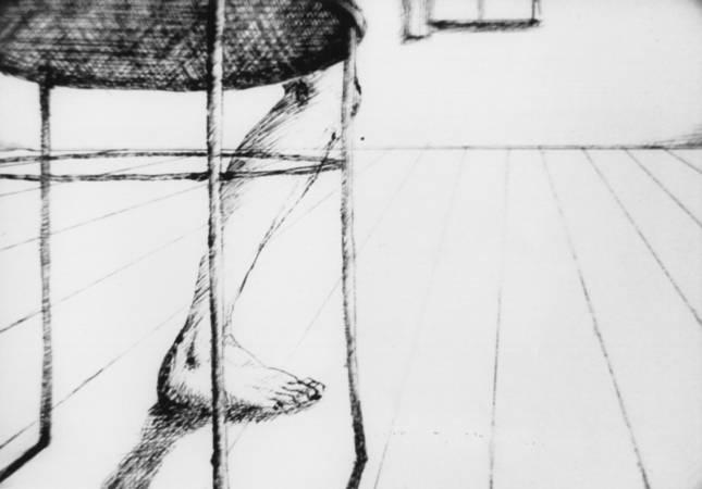 Kadr z filmu Wolność nogi
