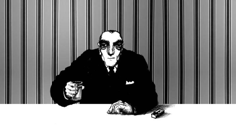 Kadr z filmu Dr Charakter przedstawia