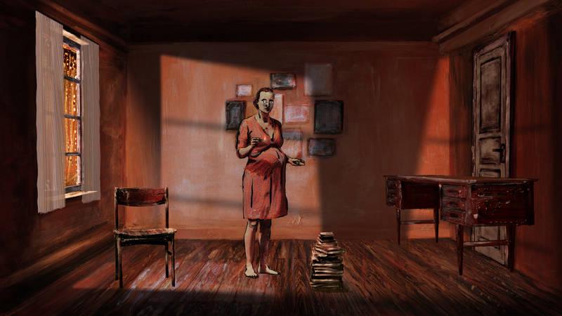 Kadr z filmu Kat w domu